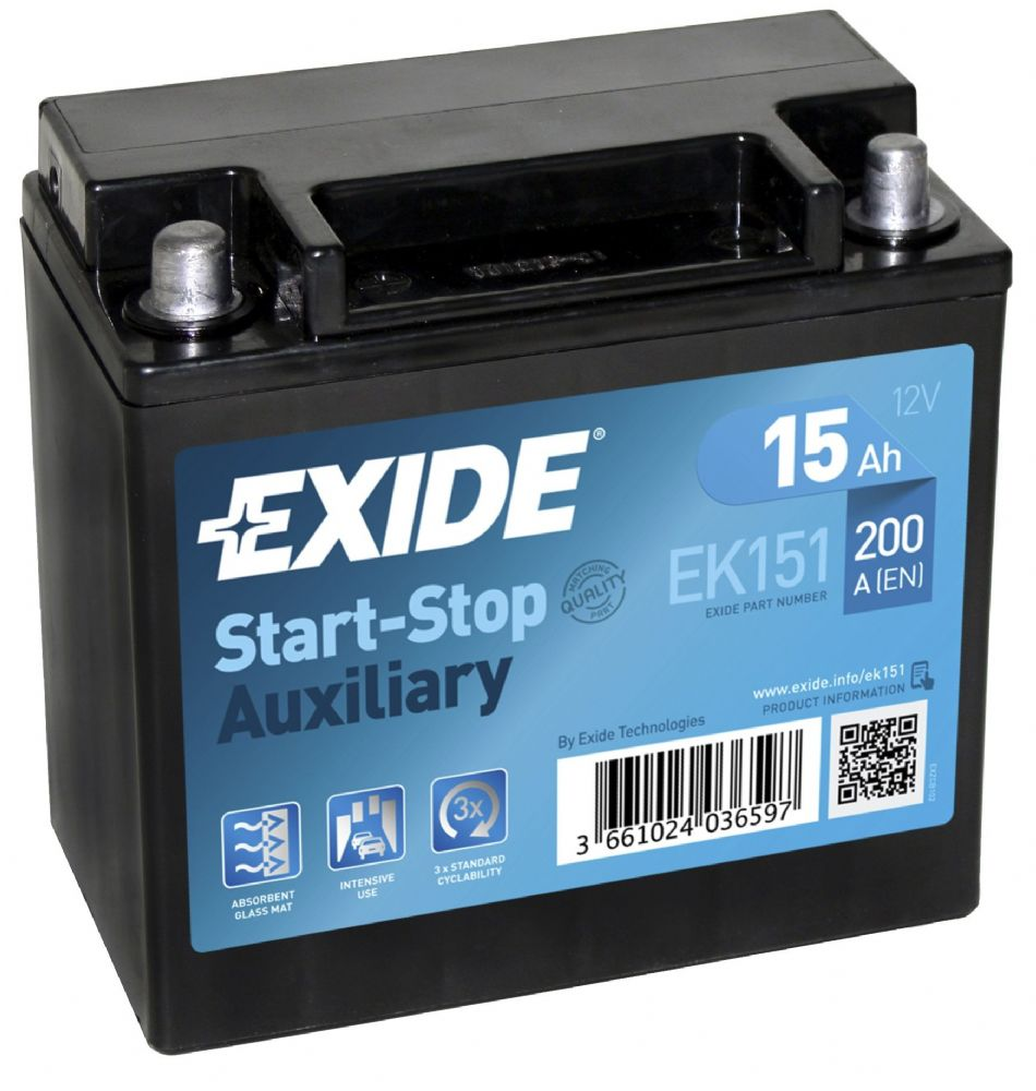 Duracell Marine Battery >> EK151 Exide Auxiliary Battery (YTX14-BS case, Round Terminals ) From £45.83 EX VAT Buy Online ...